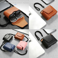 Leather Storage Bag Case Cover for Sony WF-1000XM3 Bluetooth Earphones Headsets