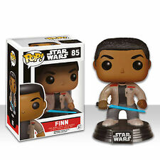 "Star Wars ESCLUSIVO finn + SPADA LASER 3.75 "" VINILE POP statuetta Bobble-Head"