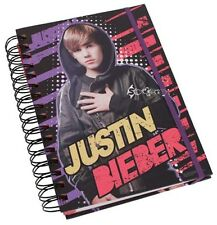 "Justin BIEBER officiel A5 spiral bound ""ordinateur portable"