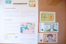 "SUPERBE BILLETS UNC + NOTICE PAYS - "" KAZAKHSTAN  "" ETAT NEUF ! 2 !(01/04/16)"