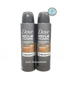 2 x Dove MEN+Care Talc Mineral & Sandalwood / Talco Mineral & Sandalo Deodorant