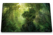Green-Mana-Forest - Board Game MTG Duel Playmat Of TCG With Card Zones Free Bag