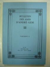 BULLETIN DES AMIS D'ANDRE GIDE N° 89 JANVIER 1991 VOL XIX - XXIVe ANNEE TBE