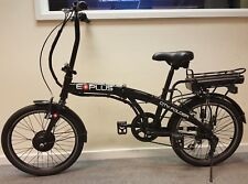 "E-Plus City Folder 24v Electric Bike 20"" Black **MANUFACTURER REFURBISHED**"