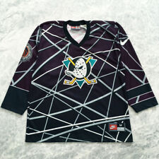 Vintage Nike Anaheim Mighty Ducks 90s Hockey Jersey NHL SIZE M MADE IN USA