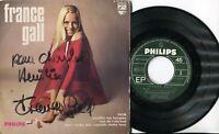 Autographe Dédicace de la Chanteuse FRANCE GALL sur pochette EP 45T
