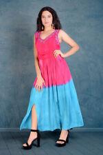 Jordash Dress Long Fuschia Turquoise SM