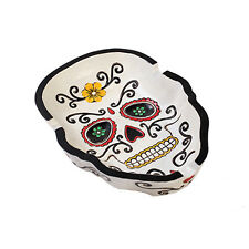 Day of the Dead Cigarette Ashtray Sugar Dia De Los Muertos Skull Face Cigaro DOD