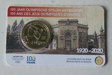 COINCARD 2 EURO COMMEMO BELGIQUE 2020  100 ANS JEUX OLYIMPIQUE ANVERS