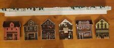 """Charles Wysocki Set of 6 """"Wysocki Folktown"""" Bradford Collector Plates w/Shelf"""