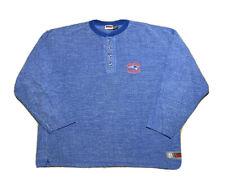 VTG 1990s The Edge NFL New England Patriots Button Crewneck Sweatshirt Size XL