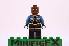 Lego BLACK LIGHTNING Custom Printed Minifig DC Comics Superhero Jefferson Pierce