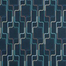 Arc com Daytona Denim blue,& Navy Funky contemporary Vinyl Upholstery Fabric