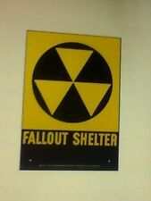 """Fallout Shelter Sign - 10""""x 14"""" Type 2"""