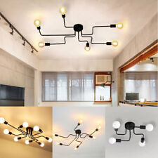 Ceiling Light Modern Vintage Industrial Metal E27 Pendant Lamp 6/8 Way New Years