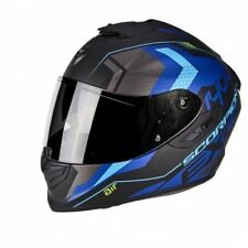 Casco Scorpion Exo-1400 Air Trika Matt Black-blue talla M