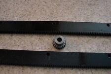 "CNC Step Motor Mechcanic  Rack & Gear 48"" (2pc) Rack & 3/8"" 20T Pinion Gear"