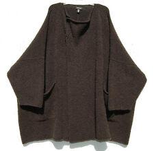 1310b24065e Eskandar BergdorfGoodman BROWN HeavyWeight Handloomed Wool Cashmere Sweater  Coat