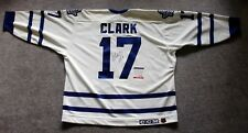 Wendel Clark Signed Nhl Toronto Maple Leafs Center Ice Throwback Jersey, Psa/Dna