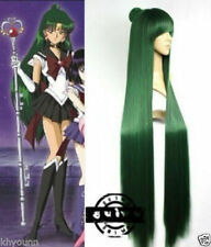 Anime Sailor Moon Sailor Pluto Meiou Setsuna Straight Green Cosplay Wig