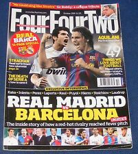 FOURFOURTWO MAGAZINE OCTOBER 2009 - REAL MADRID vs BARCELONA
