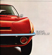 1970 Opel GT 12-page Original Car Sales Brochure Catalog - Mini Corvette GM