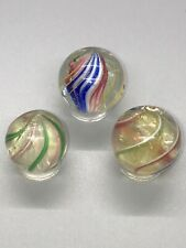 GERMAN HANDMADE MARBLES YELLOW, WHITE, SOLID CORE HANDMADE MARBLES