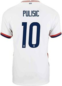 USMNT (M) Home Jersey Nike US Soccer Pulisic 10 top quality