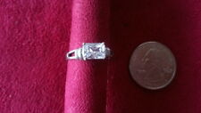 Beautiful  Rectangle White CZ Solid  Ring 925 Sterling Silver * Size 8.5 *A292