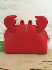 KATE SPADE NWT SHORE THING CRAB HILLI CROSSBODY PURSE BAG LEATHER PICNIC RED