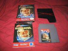 NES Nintendo Tecmo Super Bowl Complete In Box CIB Techmo