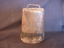 """Old Vtg Antique Collectible Metal Cow Bell 7"""" x 4"""""""
