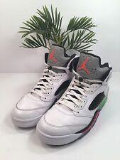 Nike Air Jordan 5 V Retro Pro Stars 136027-115 Wht/InfaRed/Poison Gr Men's Sz 12