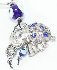 """Blue Evil Eye 2"""" Elephant Keychain Blessing Protection Religious Gift US Seller"""