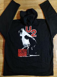 U2 Rattle & Hum Vintage Mens Hoodie Tracksuit Top Hooded Jacket Jumper Pop Rock