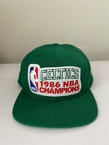 Mitchell & Ness Boston Celtics 1986 NBA Champions Snapback Hat, Excellent Cond.