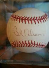 Cal abrams signed autographed baseball w/ball cube