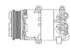 HELLA Klimakompressor Ford Mondeo Turnier Limousine 1.6 Ti 1.6Ti 110 120 125 PS