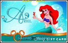 DISNEY 2010 ANIMATION MOVIE ARIEL PRINCESS RARE COLLECTIBLE GIFT CARD