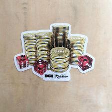 DGK skateboard vinyl sticker Dirty Ghetto Kids gamble Risk Taker casino dice SK8