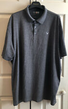 Callaway Opti-Dry Golf Men's  XXL 2XL Polo Dark Gray Short Sleeve Shirt