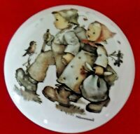 VTG Hummel Candy Dish with Boy and Girl Walking  Signed Mint (see pictures)