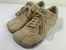 Diesel Womens Size 7.5 EVELYN Athletic Shoes Tan Brown Low Top Leather Sneakers