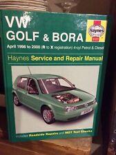 HAYNES VW GOLF & BORA - APRIL 1998 to 2000 (R to X reg'n) 4-cyl PETROL & DIESEL