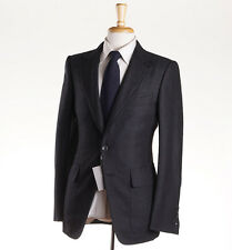 NWT $5460 TOM FORD Houndstooth Wool Suit with Suede Details 38 R (Eu 48) Buckley