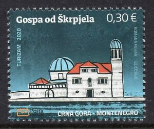 323 MONTENEGRO 2020 - Tourism - Our Lady of Skrpjela - MNH Set