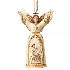 Heartwood Creek 4058836 Ivory and Gold Nativity Angel Hanging ornament