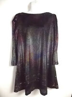 NEW Free People Womens Large Metallic Dress Mermaid Mini Shift Diamonds Forever