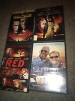 🔥Morgan Freeman 4 DVD Lot Award Winning Actor Classic Movies Bucket List 📀🎞