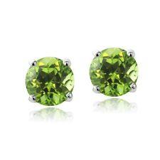 Green Screw Back (pierced) Fine Earrings